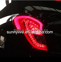 For Ssangyong Korando C 2011~2013 LED Tail Lights Tail Rear Lamps