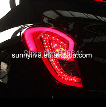 For Ssangyong Korando C 2011~2013 LED Tail Lights Tail Rear Lamps image