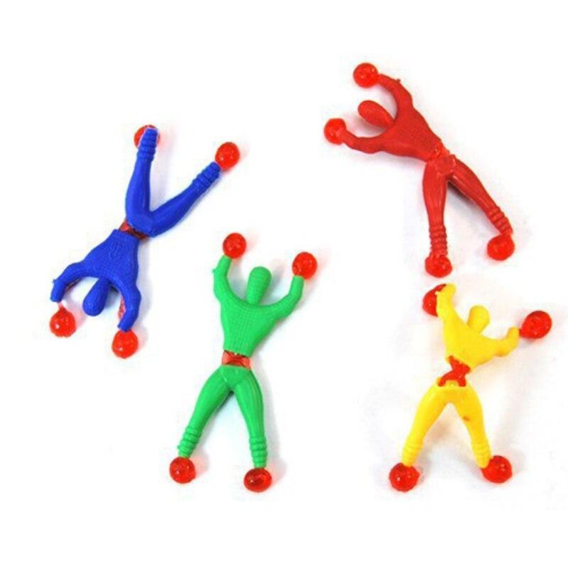 12 Pcs Spiderman Climbing Kids Climber Men Sticky Rock Pinata Fillers Children's Toy Spiderman Birthday Gift Party Supplies
