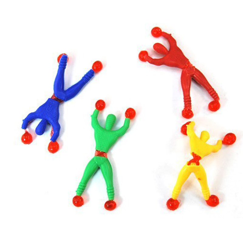 12 Pcs Spiderman Climbing Kids Climber Men Sticky rock Pinata Fillers Children's Toy Spiderman Birthday Gift Party Supplies image