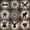 Creative Cartoon LED Wall Lamp Animal Owl Projection Shadow Flower BAT Night Light E27 Warm Blub