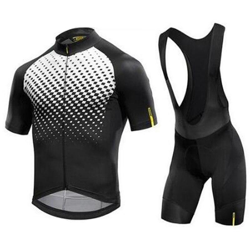 Mavic vélo vélo Maillot ensemble nouveau à manches courtes vtt vélo vêtements respirant hommes bicicleta triathlon Maillot Ropa Ciclismo