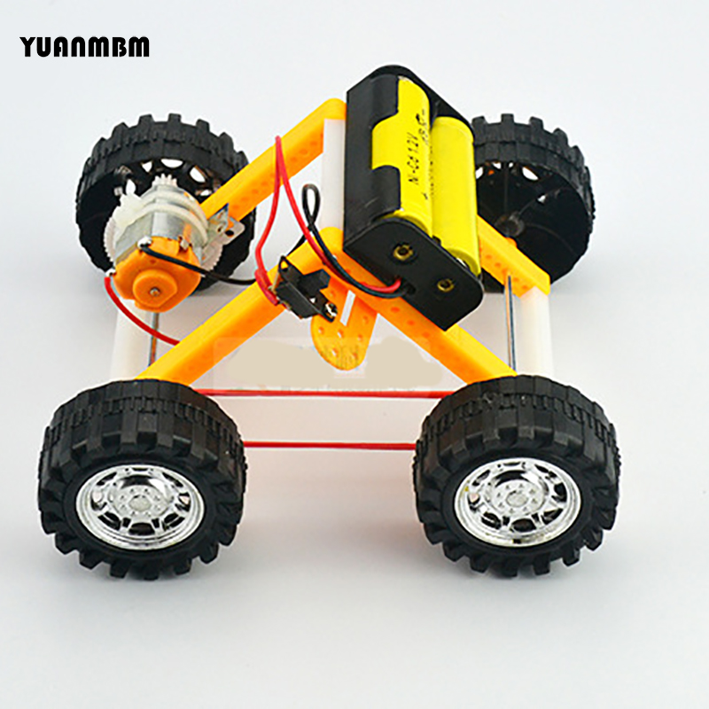 Four wheeled drive Mars car/scientific physics experimental Educational toys/DIY technology production/puzzle/baby toys