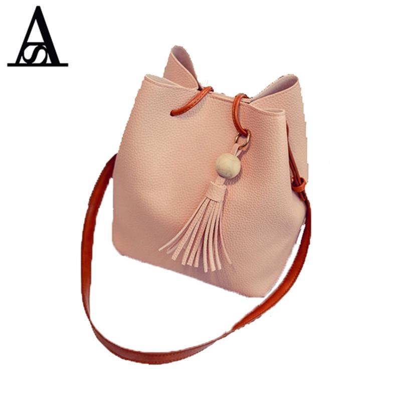 8e52bc03e5 AITESEN Bucket Women Bags Female Mother Bag Fall Fashion Shoulder Bag  Handbag Tassel Ladies Messenger Bags Michael Handbag