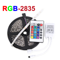 RGB LED Strip 2835 SMD 5m/lot 60leds/m Flexible LED Tape Light DC12V 24key IR Remote Controller High Bright Bombillas LED Lamp