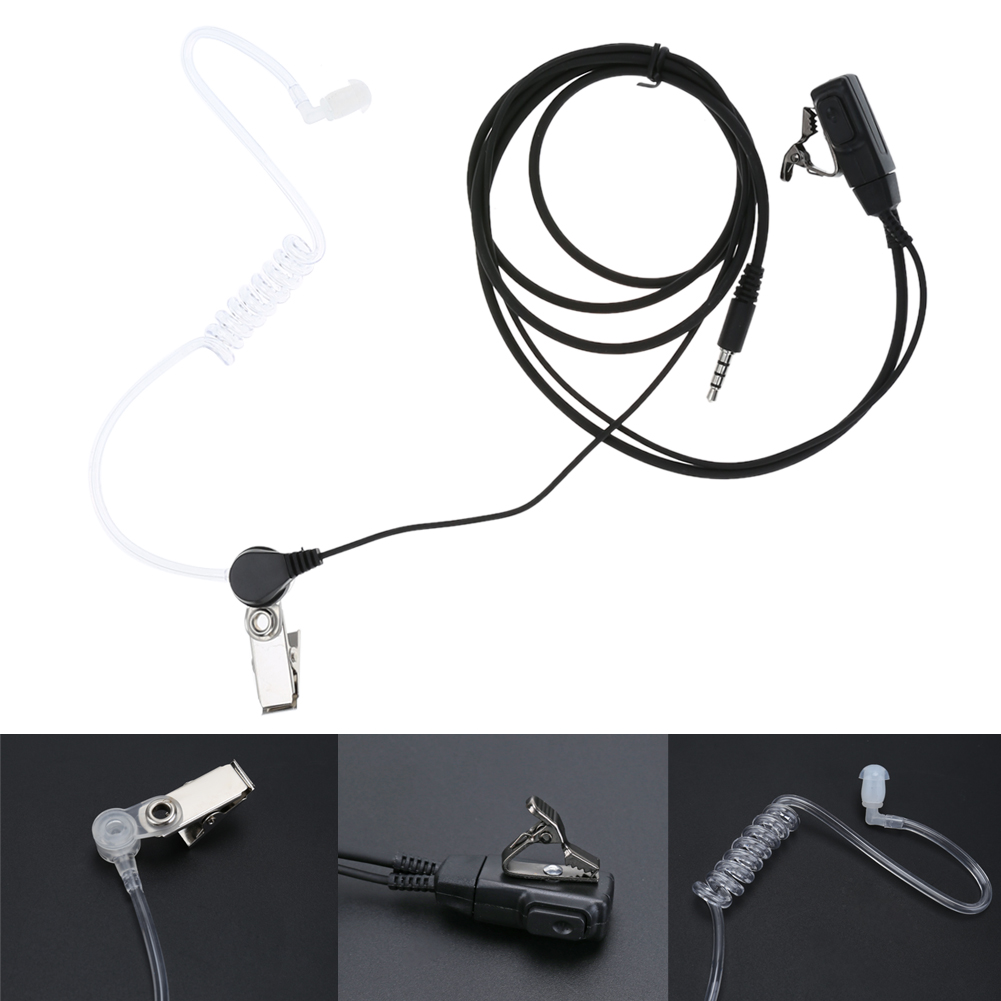 New 3.5mm Acoustic Air Tube Earpiece PTT Headset Anti-Radiation Wired Phone Headphone Earphone for Iphone Samsung Xiaomi Huawei