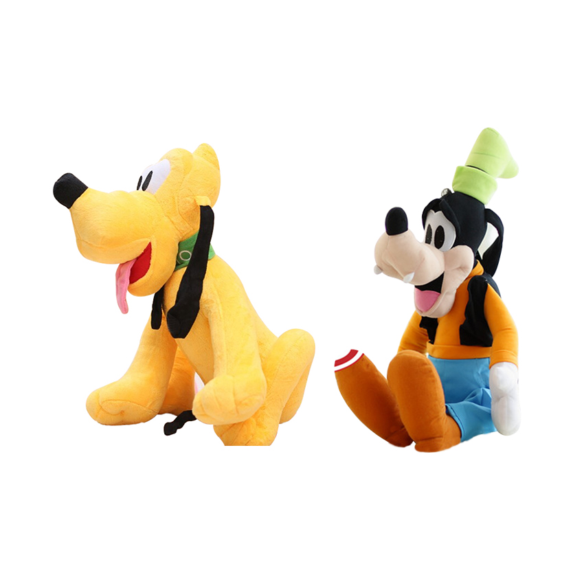 цена на 2pcs 12 30CM Plush Toy Stuffed Toy Super Quality Soar Goofy & Pluto Dog, Goofy Pluto Toy Lovey Cute Doll Gift for Children