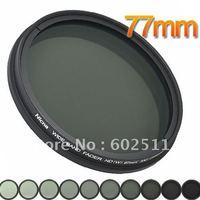 Nicna Fader ND Filter Instelbaar van ND2 om ND2-ND400 MC Pro Multi-Coated Filter Lens 77mm