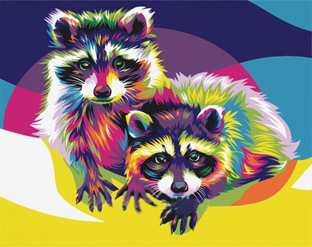 √5d DIY diamante pintura animal color squirrl mosaico cuadros ...