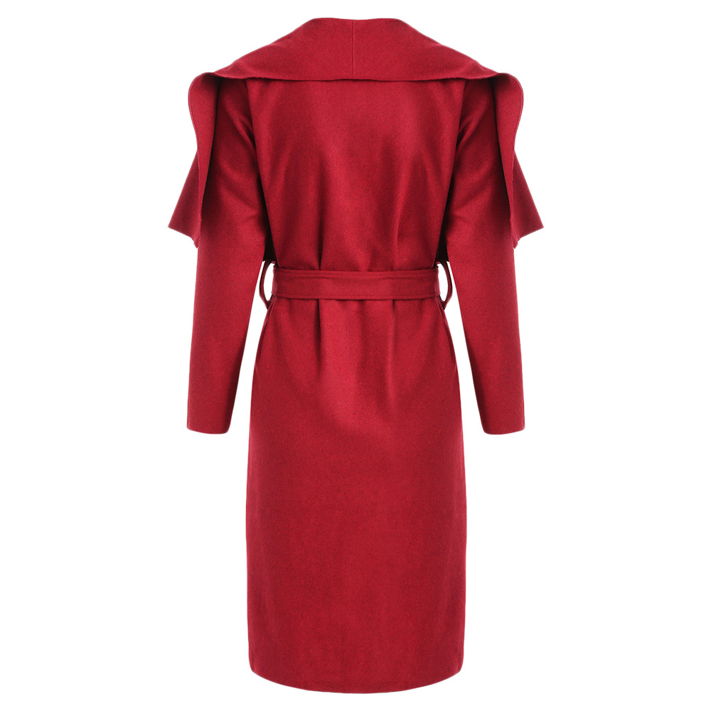 Manteau maxi longue en laine manches longues mode femme