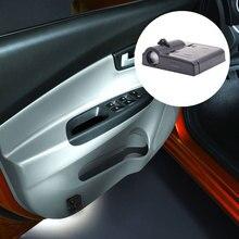 Батарея питание светодиодный автомобилей Weclome двери свет 3D лазерный проектор лампы авто логотип марки тень свет украшения лампы освещения