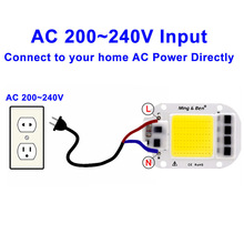 LED COB Chip 20W 30W 50W 3W 5W 7W 9W 12W 15W 18W 220V Smart IC Light High Lumen LED Lamp Chip For DIY Floodlight Light Bulb Chip
