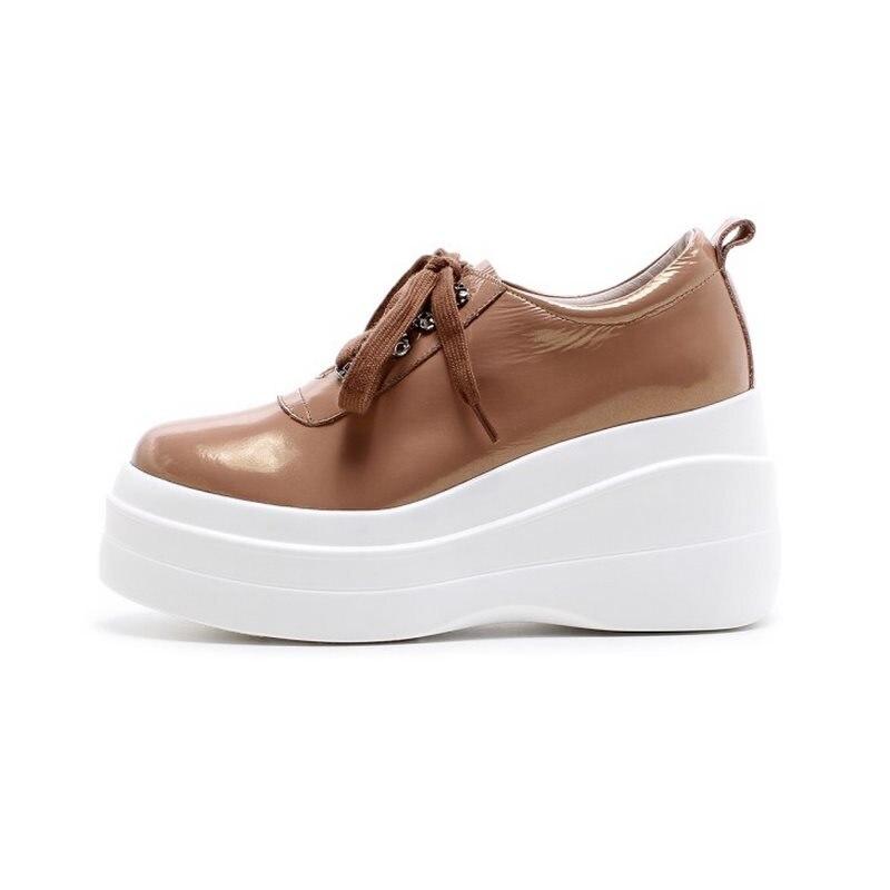 Color blanc Pompes Plate D'origine Compensées Camel Taille Loisirs Bandoulière En Cuir Femmes 34 Footwears forme Lebaluka Chaussures 39 Rond Bout HSxUPn