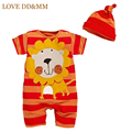 2017 Newborn Baby Boys Girls Cotton Cartoon Animal Lion Tigger Zebra Print Baby Romper Leisure Toddler Infant Climbing Clothes