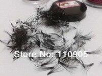 3pcs X Cluster 100 Human Hair Eyelash Extension Soft Real Human Hair Flare Eye Lashes 10P