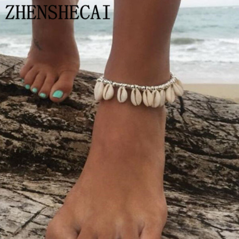Female Anklets for Women simple shell Foot Jewelry Summer Beach Barefoot Bracelet ankle strap Bohemian jewelry Accessories JSZ1