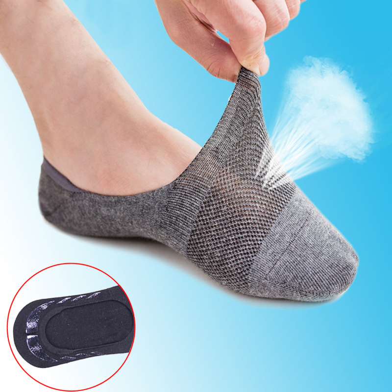 Men Summer Socks 5Pairs/Lot Fashion Casual Cotton Men Socks Male Brief Breathable Invisible Slippers Shallow Mouth No Show Sock