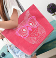 FY003  Women bags 42*31cm News 2016 fashion Handbag shoulder bag Korean style printed canvas bag striped canvas student bag