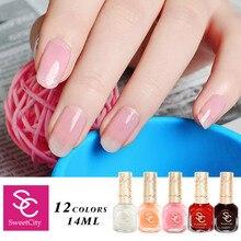 High Quality Nail Polish Nude Candy Color Long Lasting DIY Beauty Nail Art Tools 19 Colors 14ml