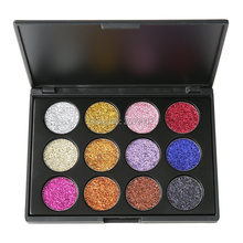 12 Color Glitter Injections Pressed Glitters Single Eyeshadow Palette Diamond Rainbow Powder Make Up Cosmetic Eye shadow Pallete brand 9 colors glitters eyeshdow pallete glitter diamond pressed glitters eyeshadow palette make up cosmetic drop shipping