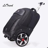 Для мужчин Бизнес дорожная сумка прокатки Чемодан ролики большой Ёмкость тележка 18 дюймов кабина чемодана колеса Trunk