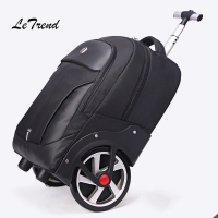Letrend Men Business Travel Bag Rolling Luggage Casters Large Capacity Trolley 18 inch Cabin Suitcases Wheel Trunk