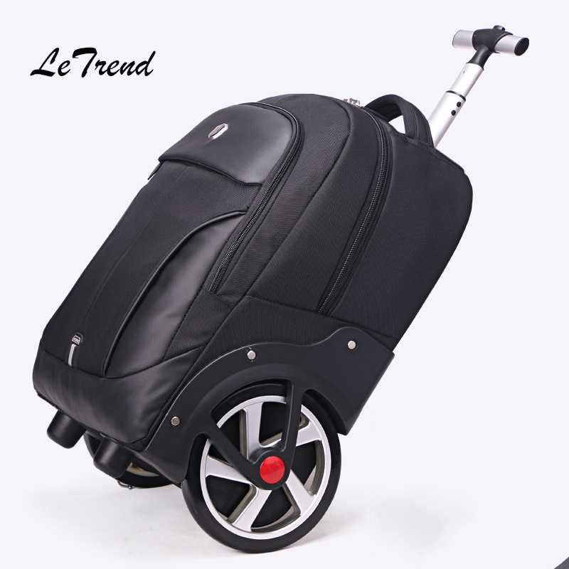 Men Business Travel Bag Rolling Luggage Casters Large Capacity Trolley 18 inch Cabin Suitcases Wheel Trunk black travel bag spinner suitcases wheel trolley business rolling luggage large capacity carry on cabin luggage backpack