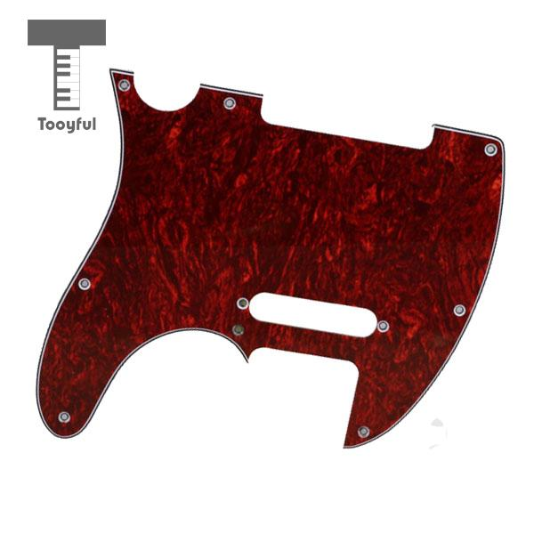 Hot Sale Tooyful Red Tortoise Shell Pickguard 3 Ply With 8 Hole For