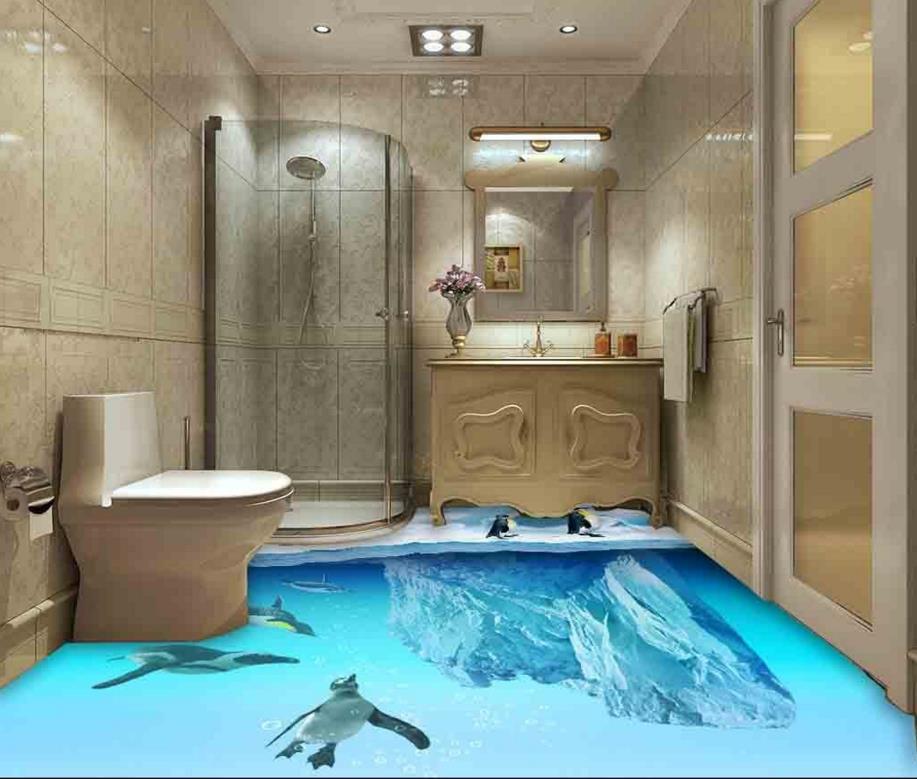 Online get cheap vinyl flooring roll for Waterproof bathroom flooring