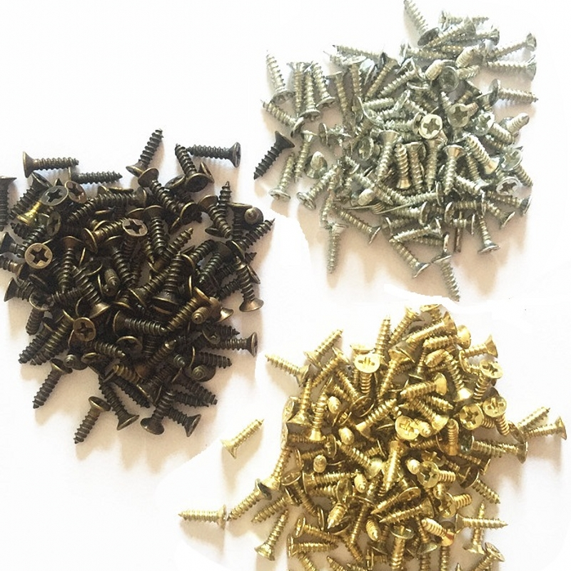Image 2 - 2*8MM  1000pcs/lot  Silver Bronze Brass  Screw Spike Mini Nail Brads Wooden Box Hinge Door Handwork Home Deco Packing-in Screws from Home Improvement