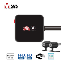VSYS M6L WiFi 2CH Motorcycle Dash Cam DVR With Full HD 1080P 720P Front Rear View