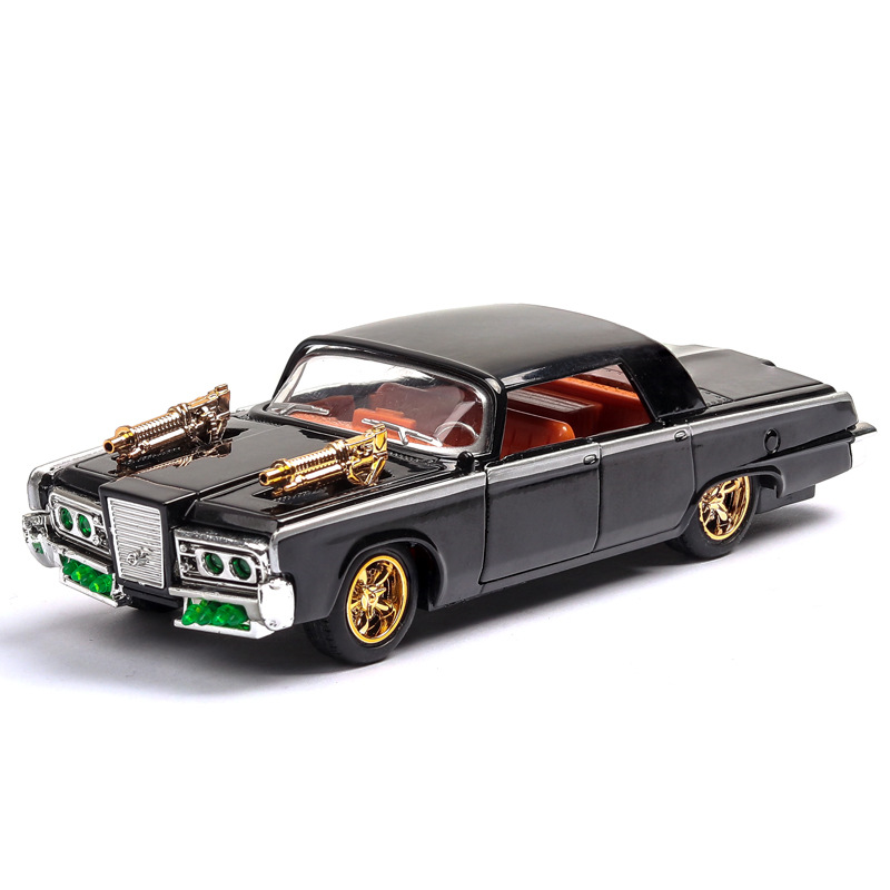 1:43 1966 Dodge Muscle Sound and light belt pull-back vehicle simulation alloy car model crafts decoration collection toy tools