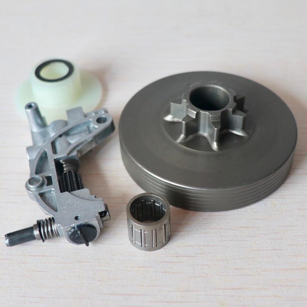 Clutch Drum /Oil Pump /Worm Gear Kit For Chinese 4500 5200 5800 45cc 52cc 58cc Chainsaw .325