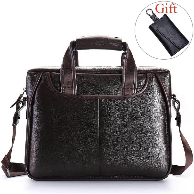 100 Genuine Leather Men s Briefcase Large Capacity Men Handbags Business Men Shoulder Messenger Bag Natural