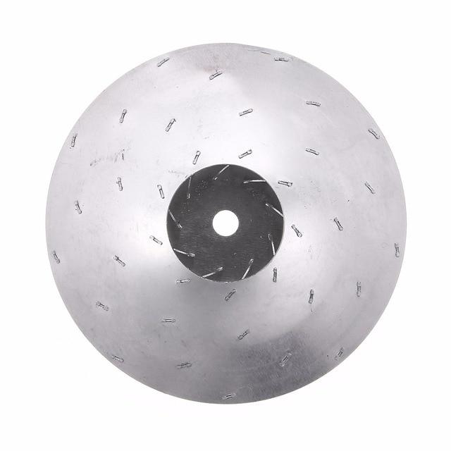 1pc Vacuum Cleaner Motor Fan Blade 8mm Hole Wind Wheel Impeller Part Aluminum Silver Diameter 112mm Mayitr