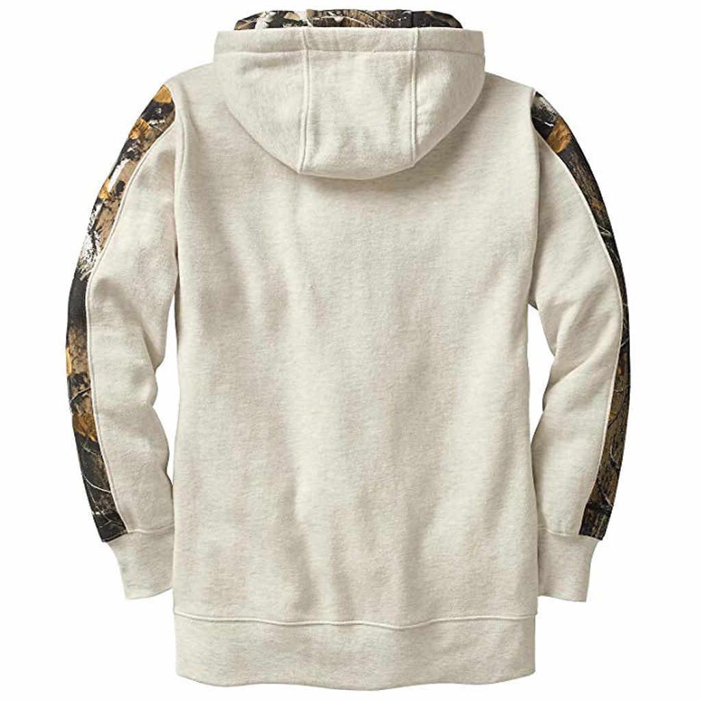 Мужская модная камуфляжная стеганая кофта с капюшоном с длинными рукавами, тонкая Повседневная Толстовка, Спортивная тренировочная рубашка для бега