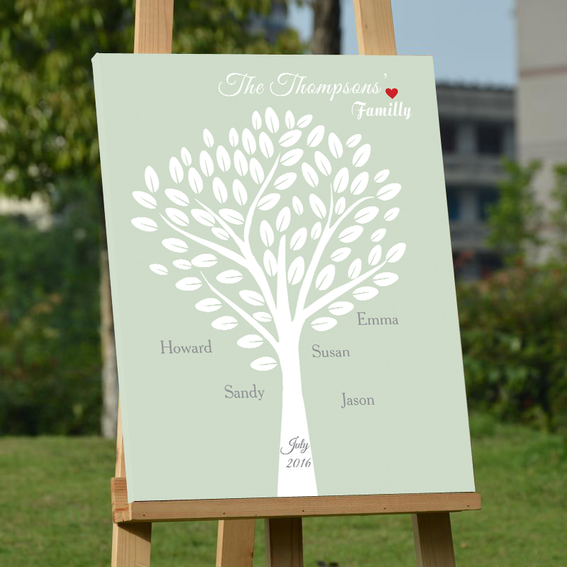 Creative Wedding Guest Book Tree Personalized Guest Book