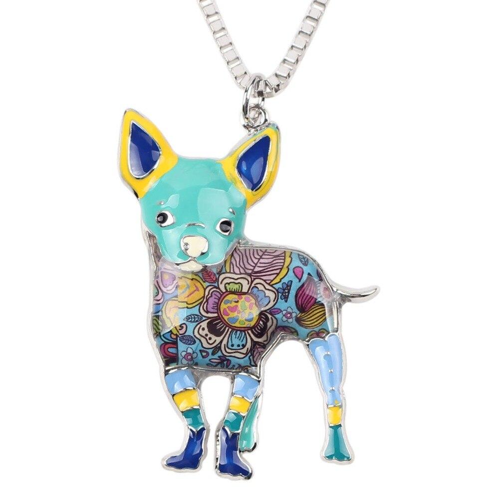 Bonsny Maxi Statement Metal Aloy Chihuahuas Dog Choker Boyunbağı - Moda zərgərlik - Fotoqrafiya 2