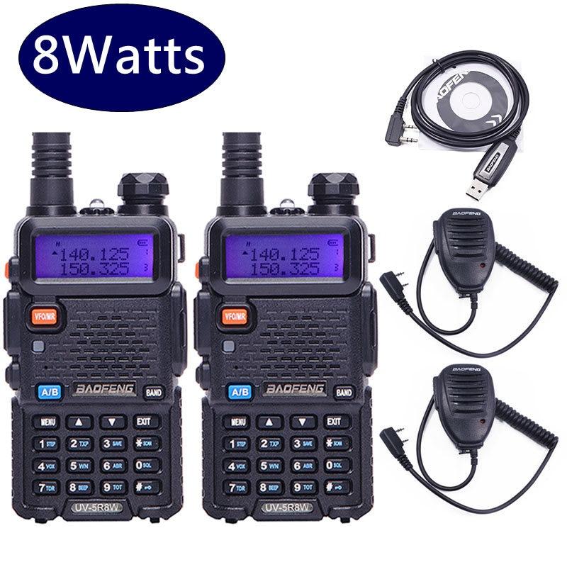 2PCS Baofeng UV 5R 8W High power 8Watts Powerful 10KM Walkie Talkie LONG RANGE CB Ham