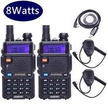 2PCS Baofeng UV 5R 8W High power 8Watts Powerful 10KM Walkie Talkie LONG RANGE CB Ham Radio VHF UHF Dual Band UV5R Two Way Radio