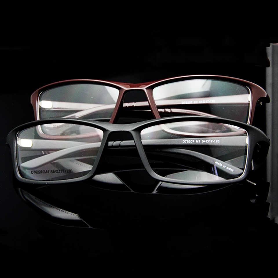 ce62a5d74904 ... ESNBIE New TR90 Plastic Flexible Clear Lens Glasses Frame Men 6 Base  Prescription Eyeglasses Frames cadre ...
