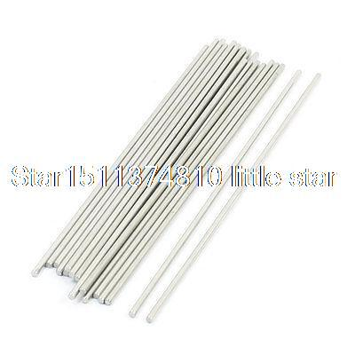 20Pcs Metal Milling Welding Working Stainless Steel Round Rods 130 x 2mm  цены