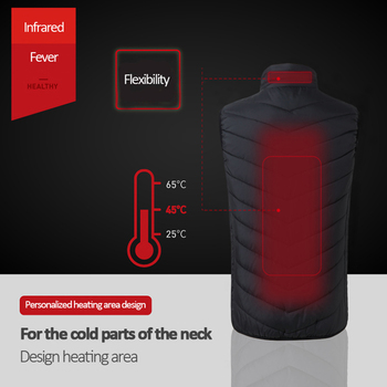 Electric Heated Vest Men Women Heating Waistcoat Thermal Warm Clothing Usb Heated Outdoor Vest Winter Heated Jacket 2
