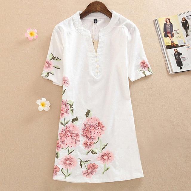 maxi Dress 2017 платья сарафан Мода Вышивки женская одежда Плюс размер летние женские платье лето летнее больших размеров пляжное одежда для женщин