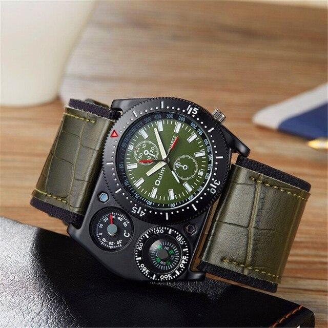 09cd3a2a6cd OULM 4094 relógio de Designer Mens Cara Grande Moda Ao Ar Livre Relógios  Ampla Pulseira de