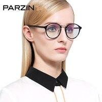 Parzin近視メガネフレーム近視メガネtr90フルフレームの眼鏡フレームアイボックスでボックス黒5016