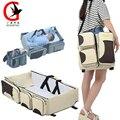 2017 saco de Múmia Multifuncional cama de Bebê cama de viagem de Grande capacidade sacos de fraldas do bebê de Maternidade sacos XM-8820