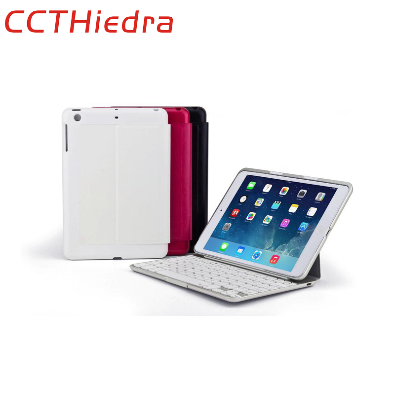 ФОТО For Home OFFICE USE 7 Color Backlight Aluminum 3.0 Bluetooth Keyboard with Stand Protective Cover Case For Apple iPad mini 1 2 3