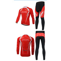 XINTOWN Winter Thermal Cycling Clothing Men Fleece Jersey Bike Bicycle Suits Cycling Kit Red Black Ropa