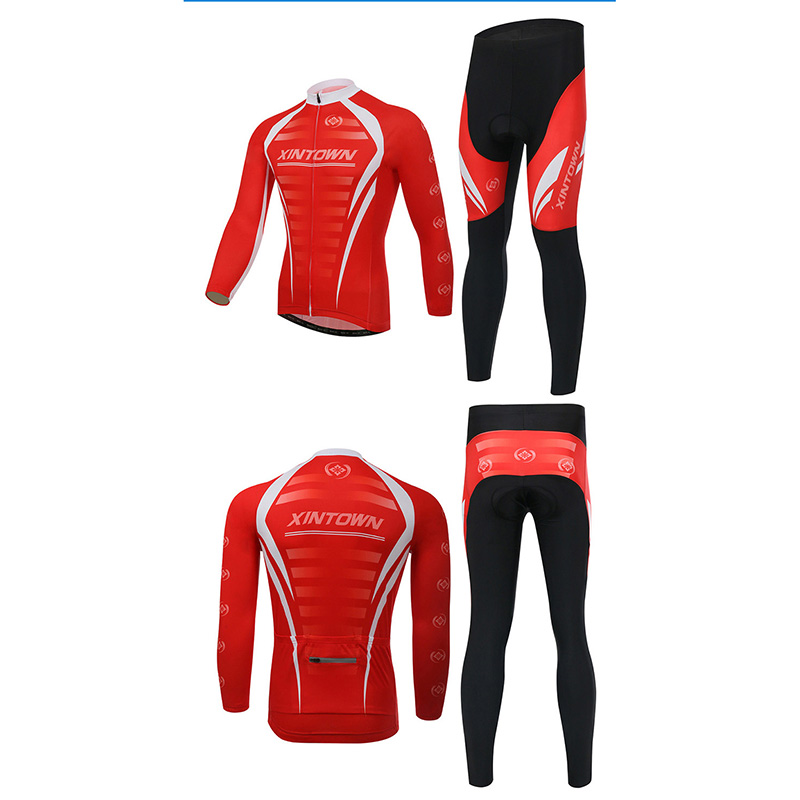XINTOWN Winter Thermal Cycling Clothing Men Fleece Jersey Bike Bicycle Suits Cycling Kit Red Black Ropa Ciclismo Cycling Jersey black thermal fleece cycling clothing winter fleece long adequate quality cycling jersey bicycle clothing cc5081